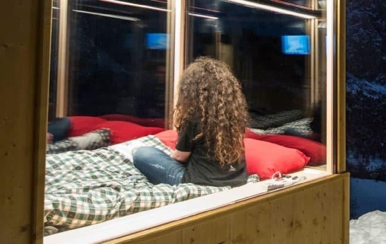 室内は一定の気温が保たれている  ソファベッドは電動