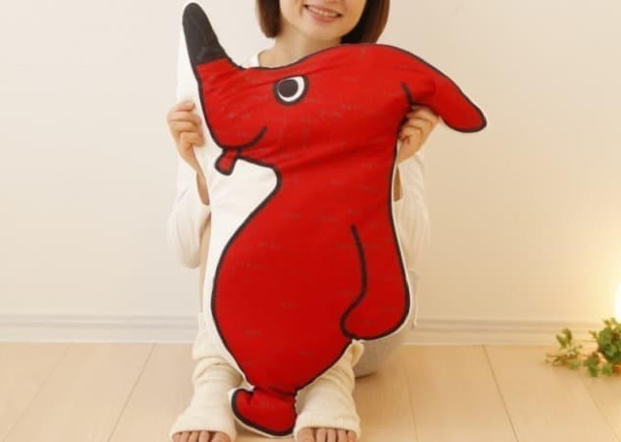 横顔が千葉県の形をしたチーバくん  舌が浦安、耳は銚子