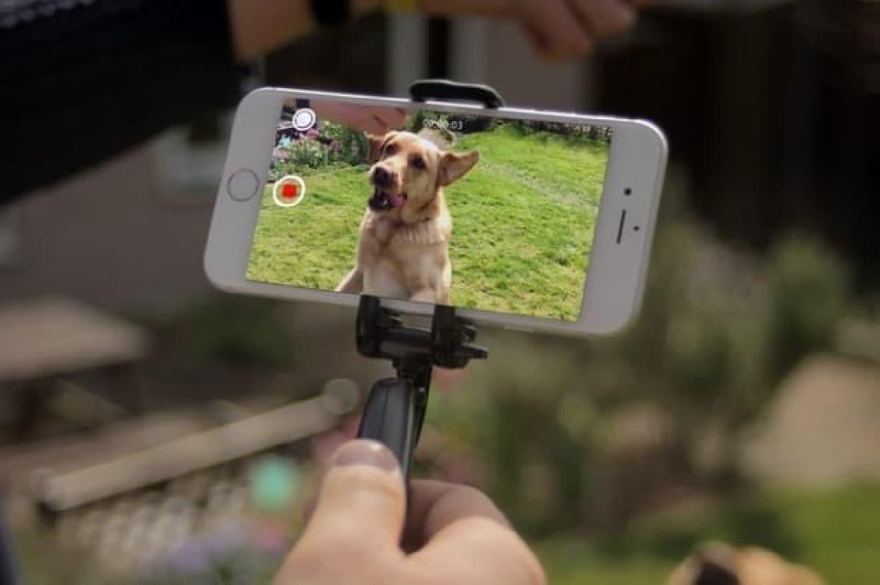 スマートフォン用スタビライザー「Smoovie」
