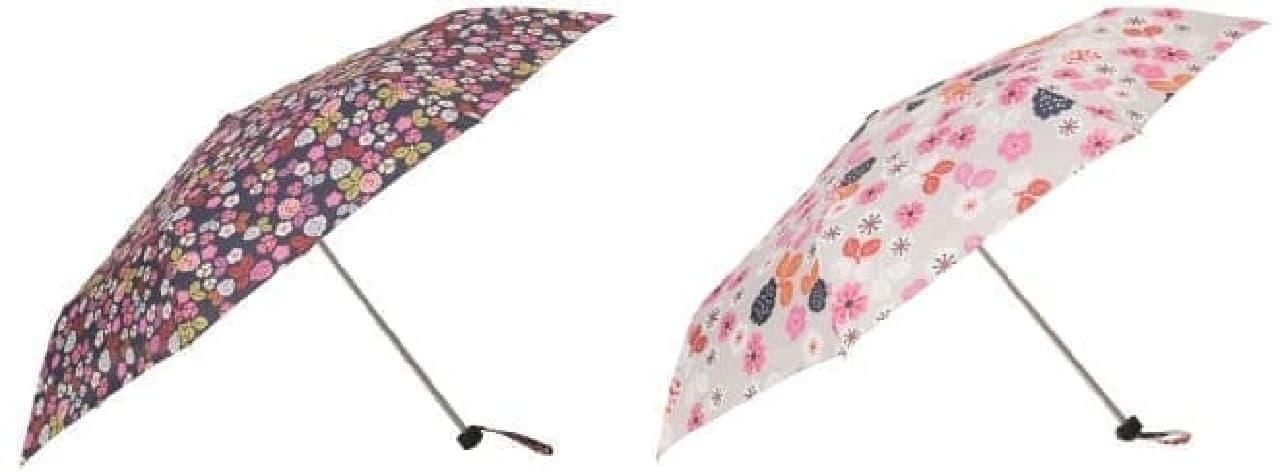 雨の日も楽しくなりそうな折りたたみ傘 各799円