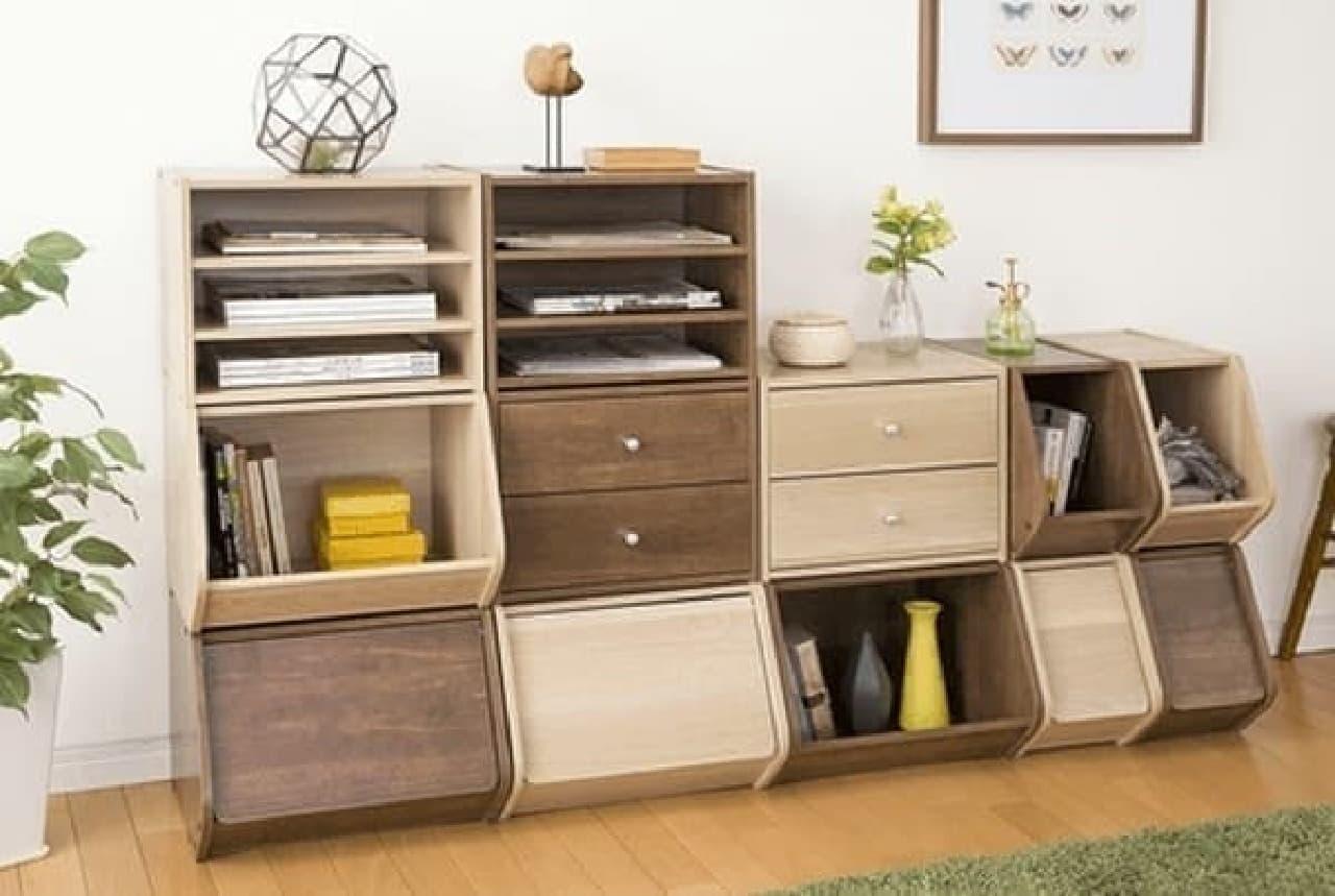 人気の木製収納「スタックボックス」に新商品