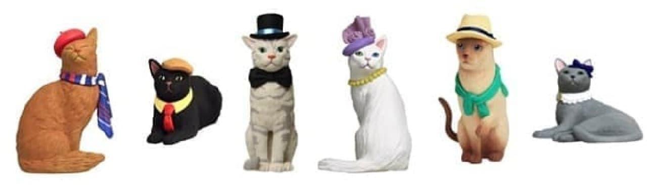 アメリカで人気だというネコフィギュア「Amy's Favorite Cat」 各950円