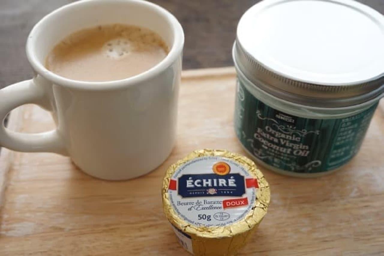 日本でもじわじわ注目されている「バターコーヒー」  コーヒー以外は成城石井で買ったもの