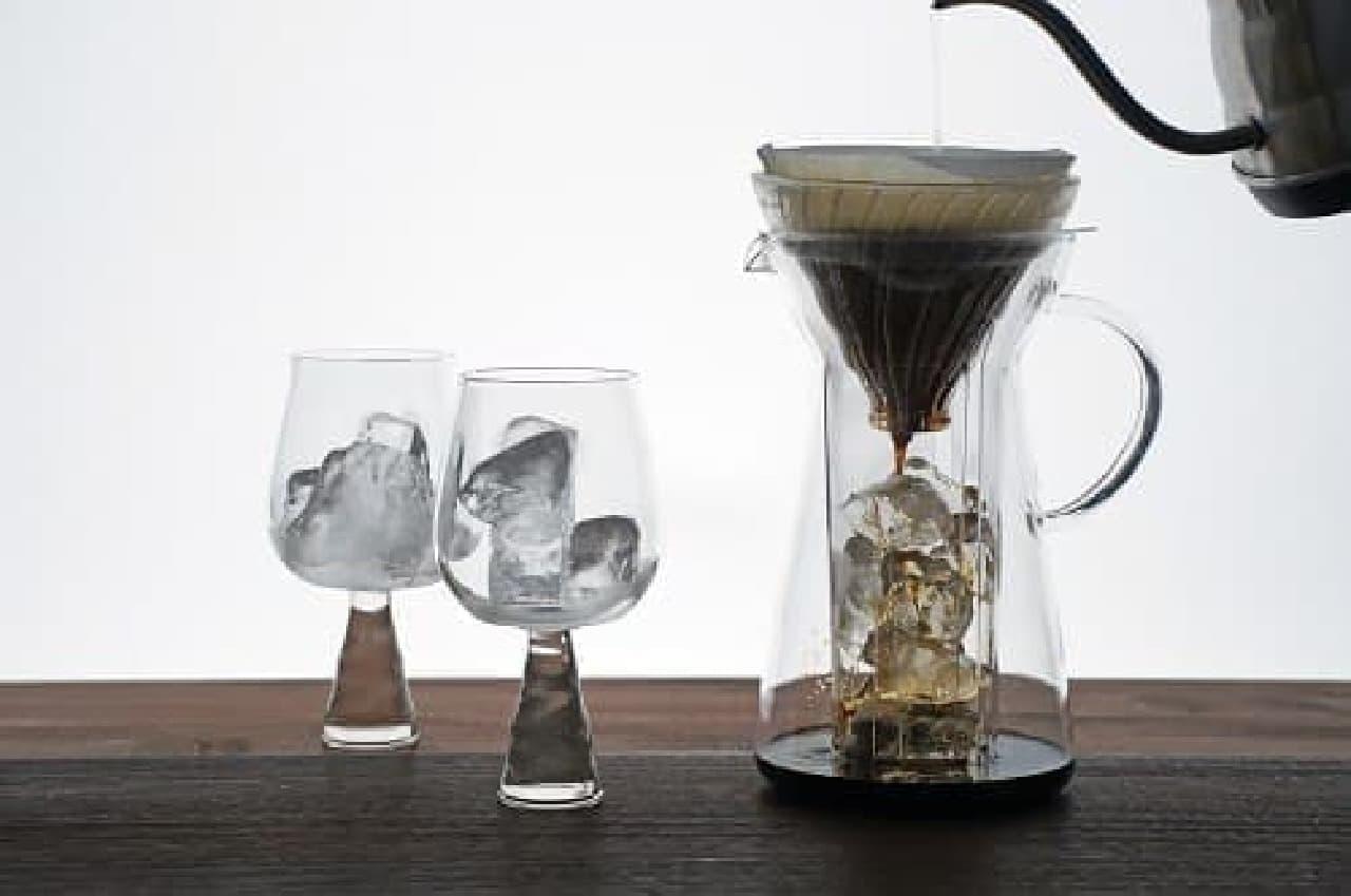 コーヒーが通過する過程も美しい