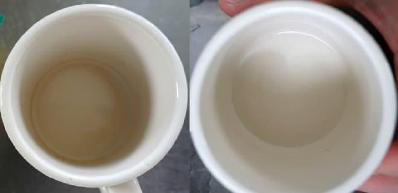 マグカップの茶渋落とし
