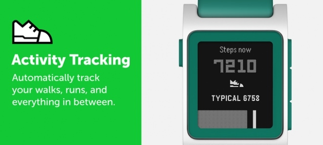 Pebble Activity Tracking features