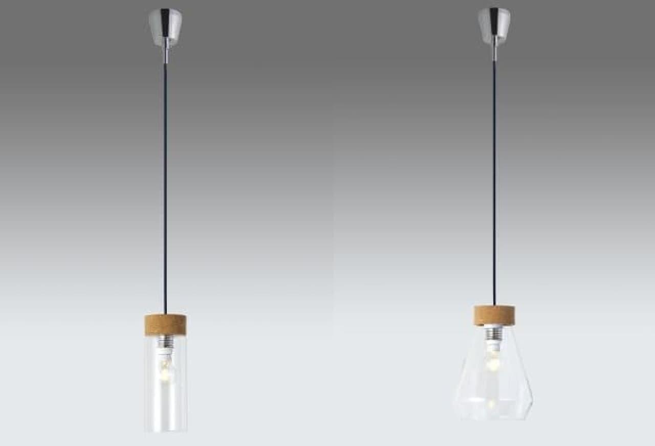 古いガラス特有のゆがみを再現した「ブリックハム」   ストレート(左)6,980円、ワイド(右)7,980円