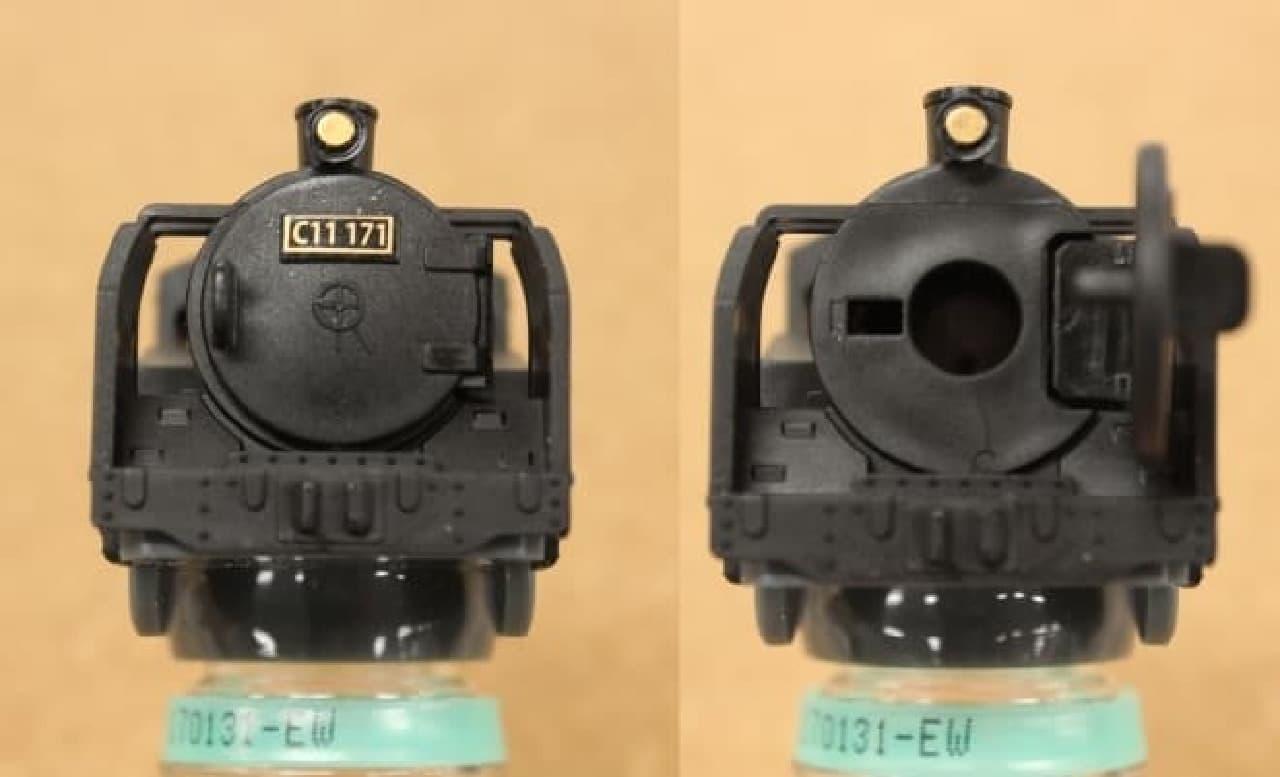 蒸気機関車は煙室扉が開きます