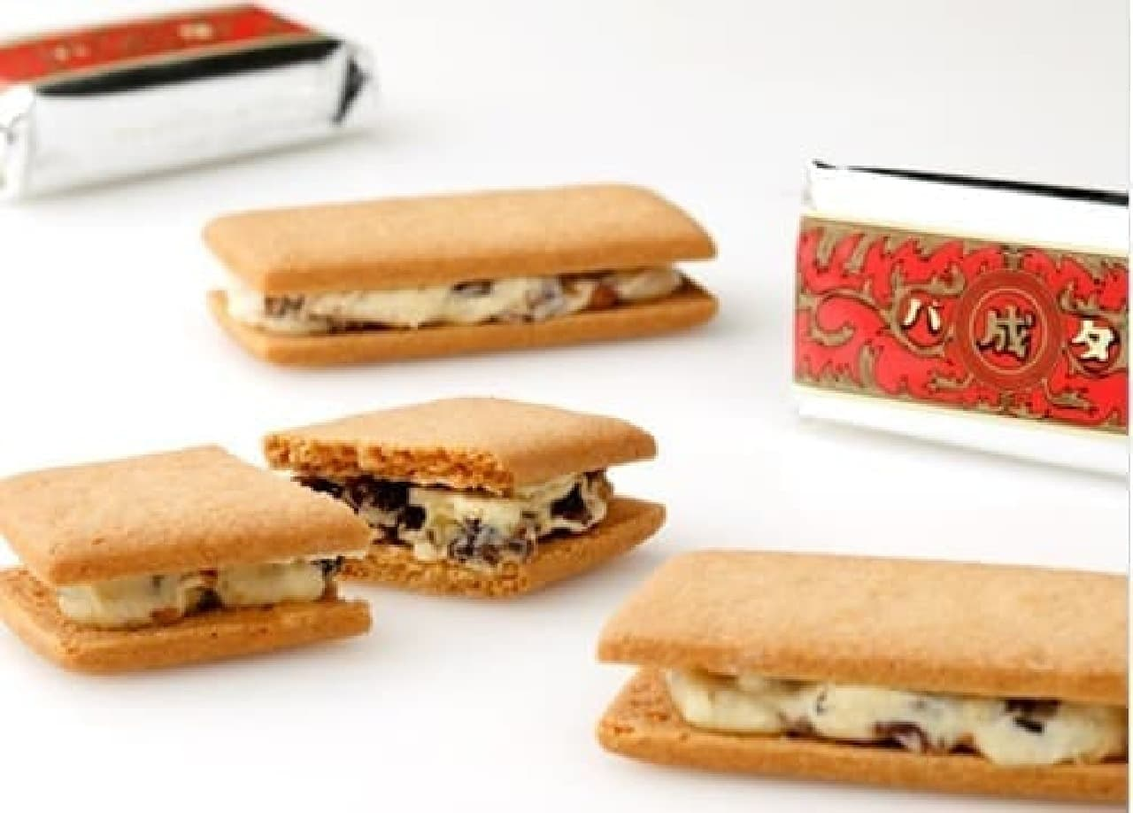 参考画像:六花亭の「マルセイバターサンド」  レーズンさえなきゃね、おいしいのにね  (画像は六花亭のWebサイトから)