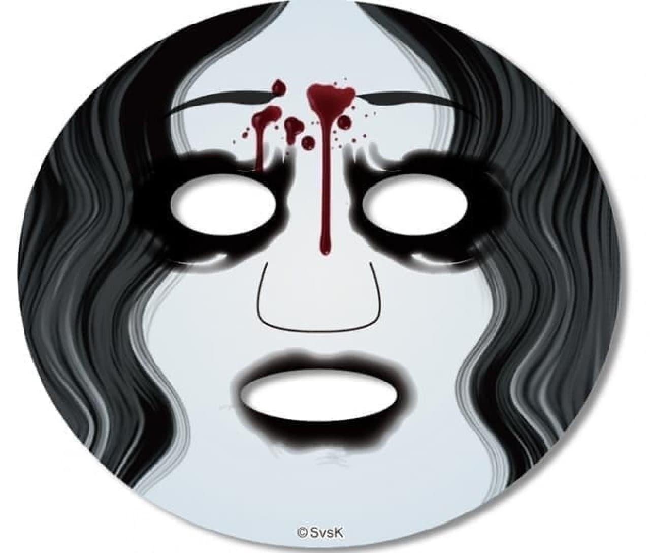 額から流れ出る血がポイントの「伽椰子」フェイスパック