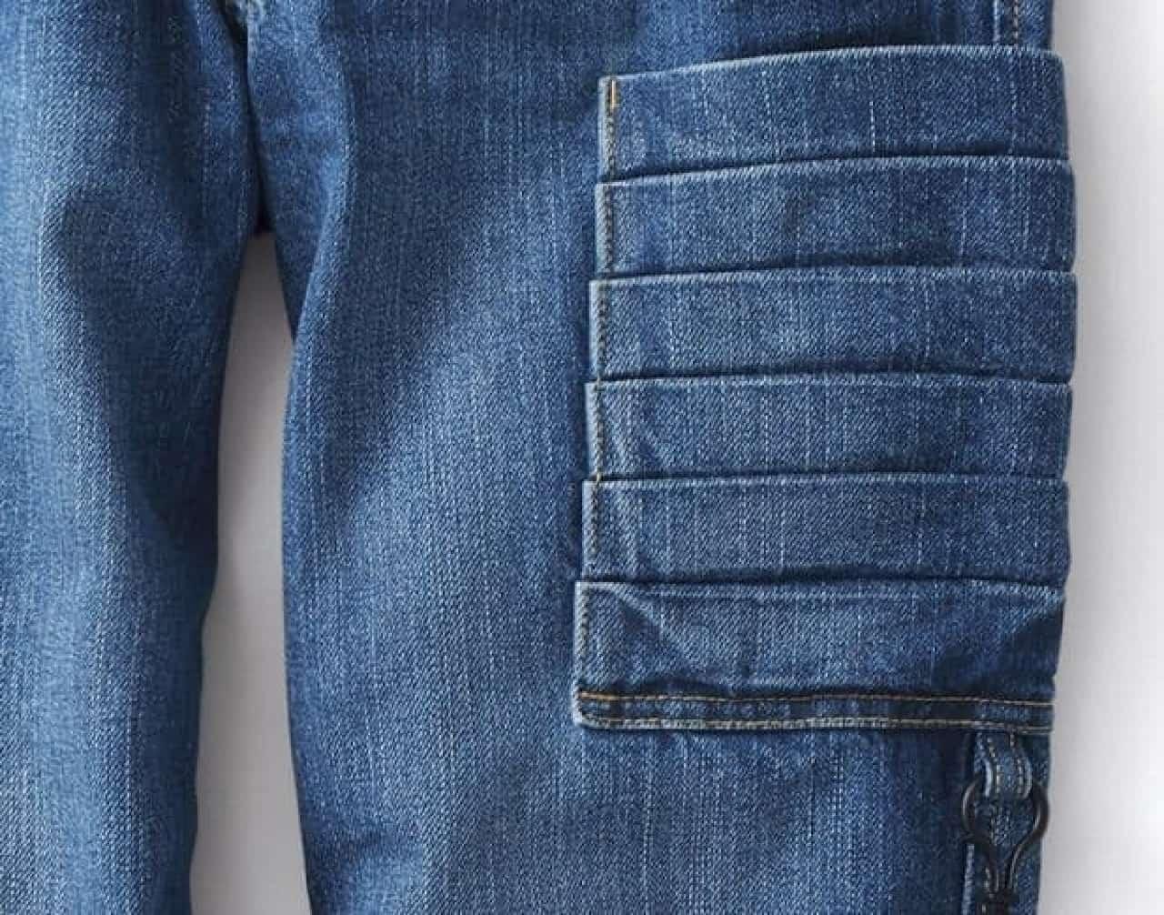 完成したジーンズ  ポケットの表面が爪とぎに!