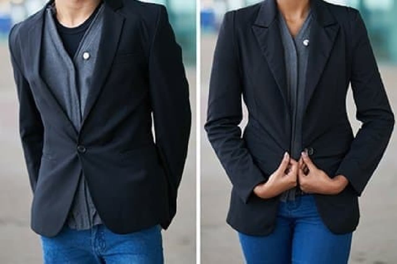 ベストタイプはジャケットの下に着用しやすい