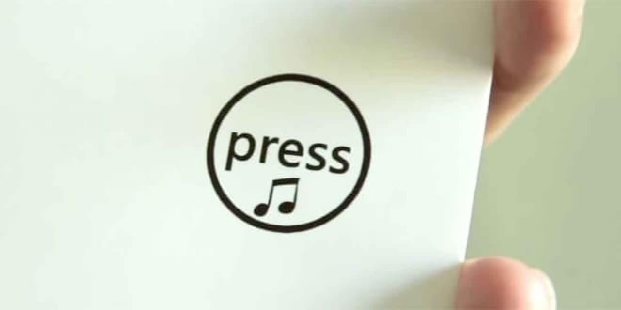 「The Joker Greeting Card」のプレスボタン