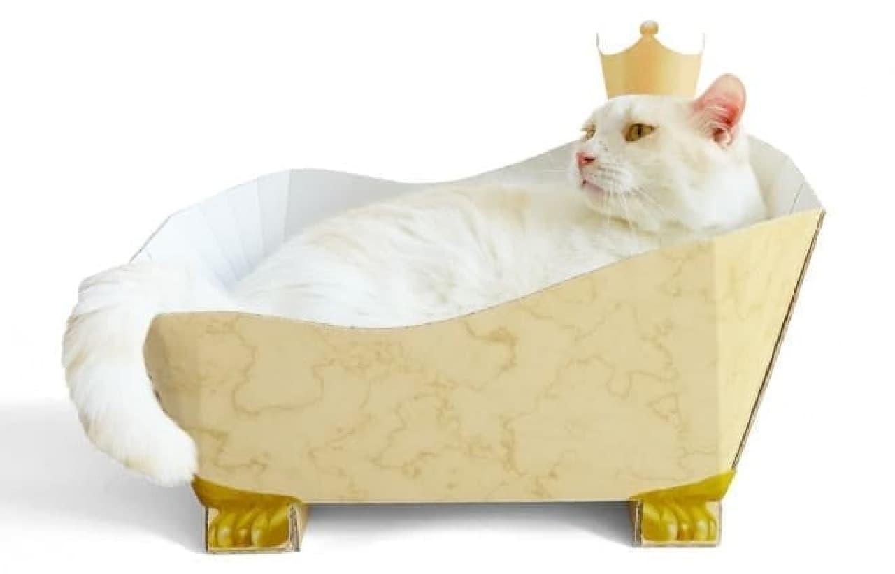 飼い主の撮影欲も満足させるお風呂形つめとぎ