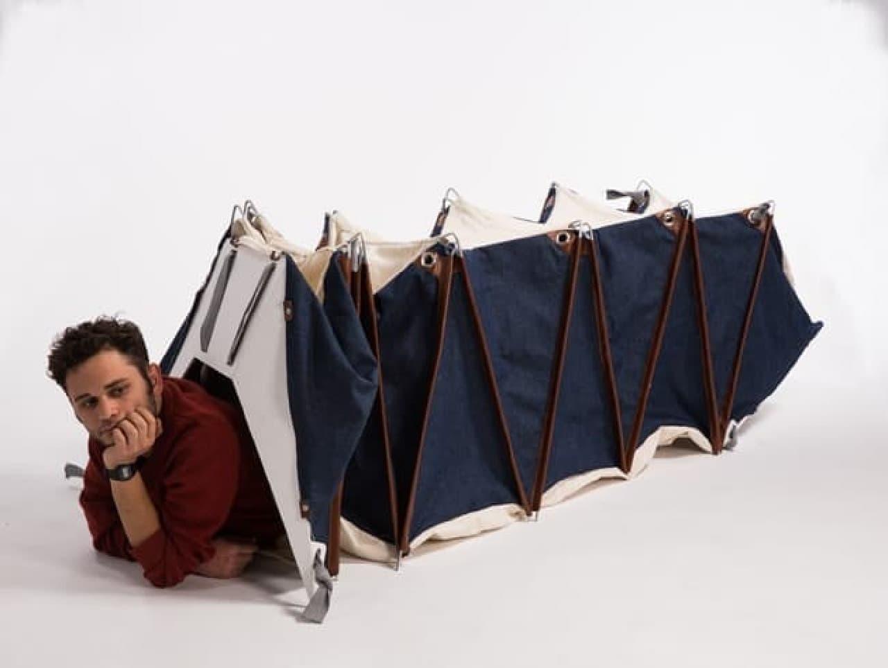 バックパックになるテント「melina」