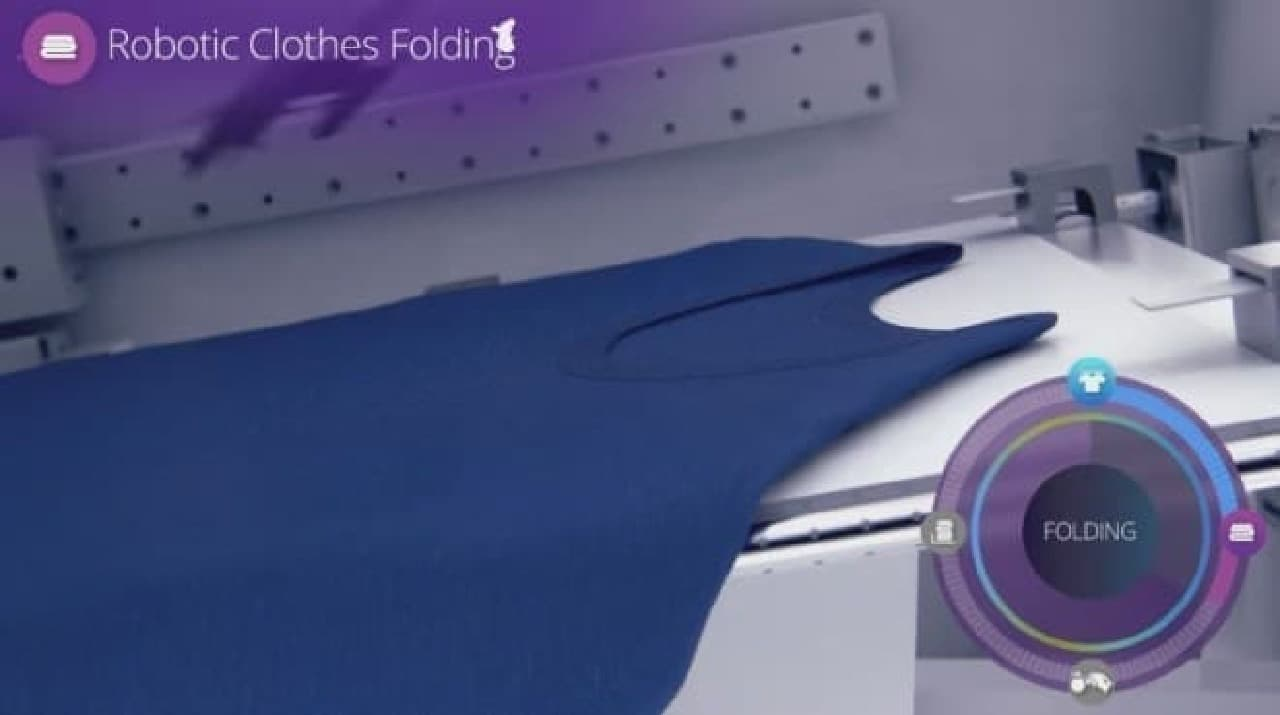 自動洗濯物畳み装置「FoldiMate」使用手順2