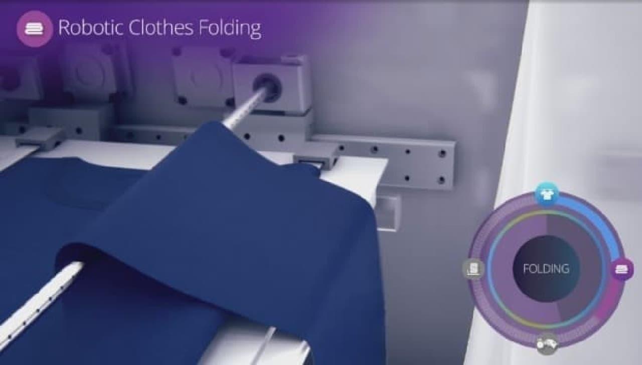 自動洗濯物畳み装置「FoldiMate」仕様手順3