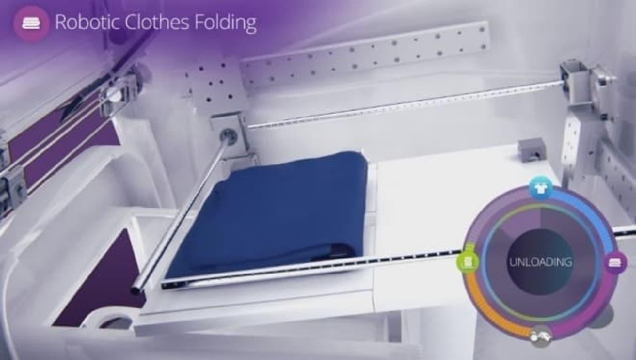 自動洗濯物畳み装置「FoldiMate」仕様手順5
