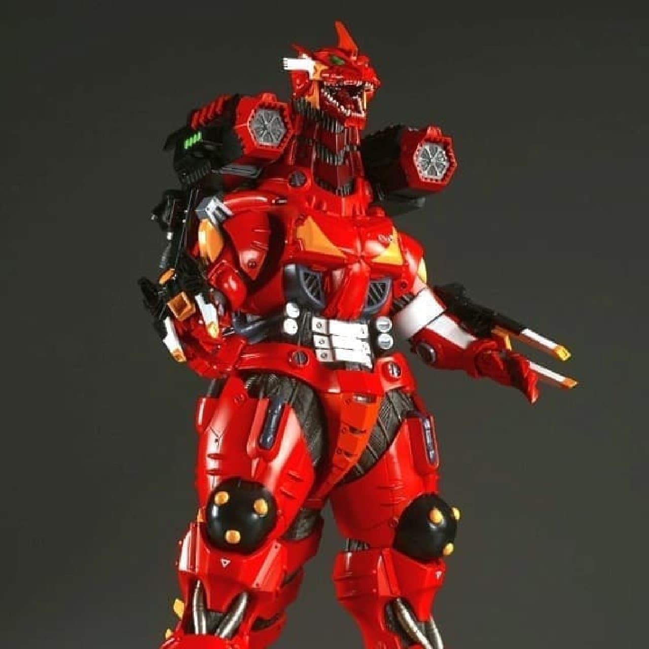 「ゴジラ対エヴァンゲリオン 東宝30cmシリーズ 3式機龍(2003版)重武装型 エヴァ2号機イメージカラー」