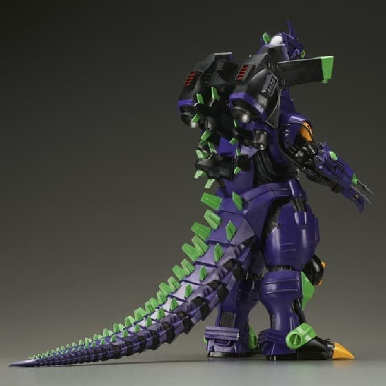 紫を基調としたカラーで彩色された「メカゴジラ エヴァ初号機イメージカラー」