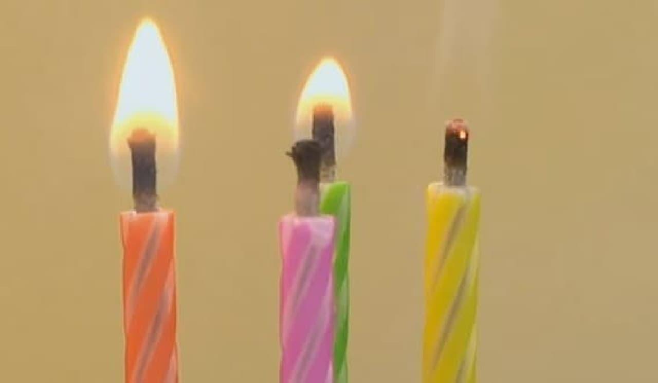 消せないロウソク「Magic Relighting Birthday Candles」