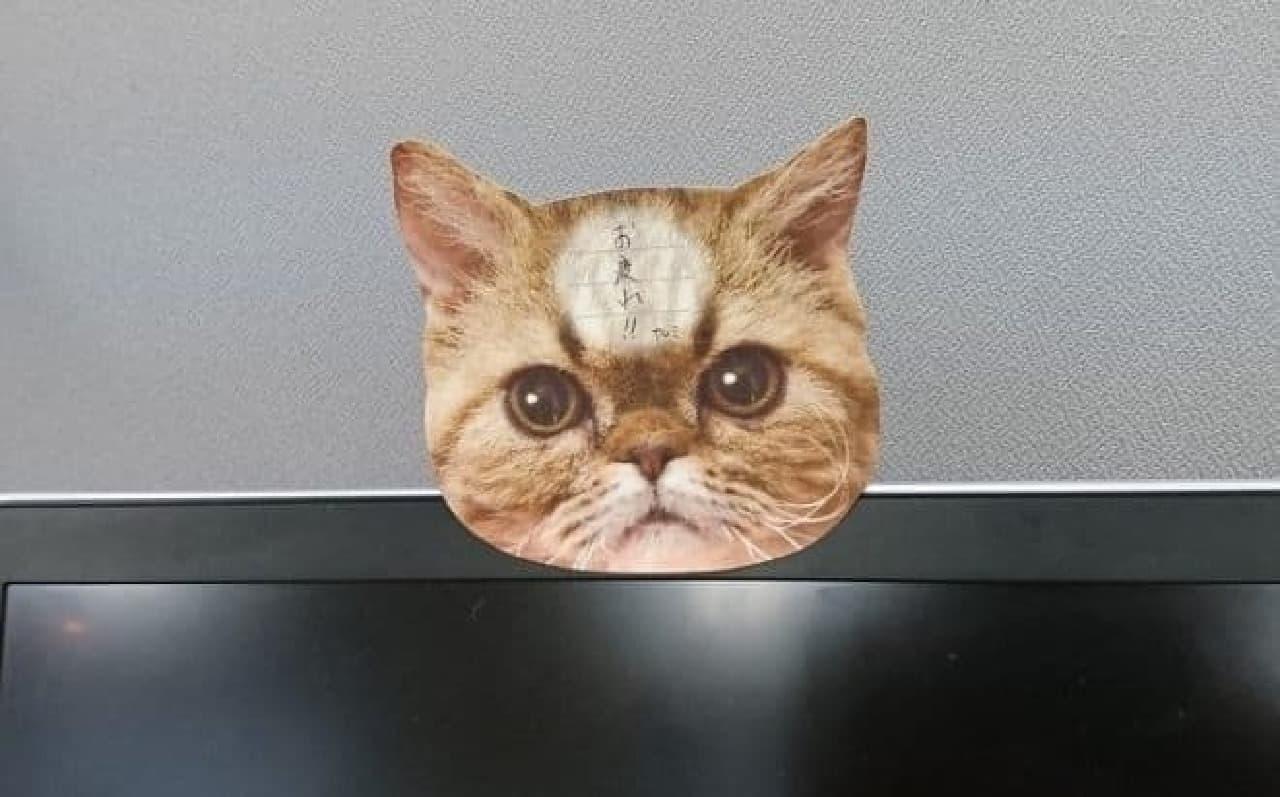 「猫のひたい 付箋メモ」で、伝言を伝えるテクニック その1