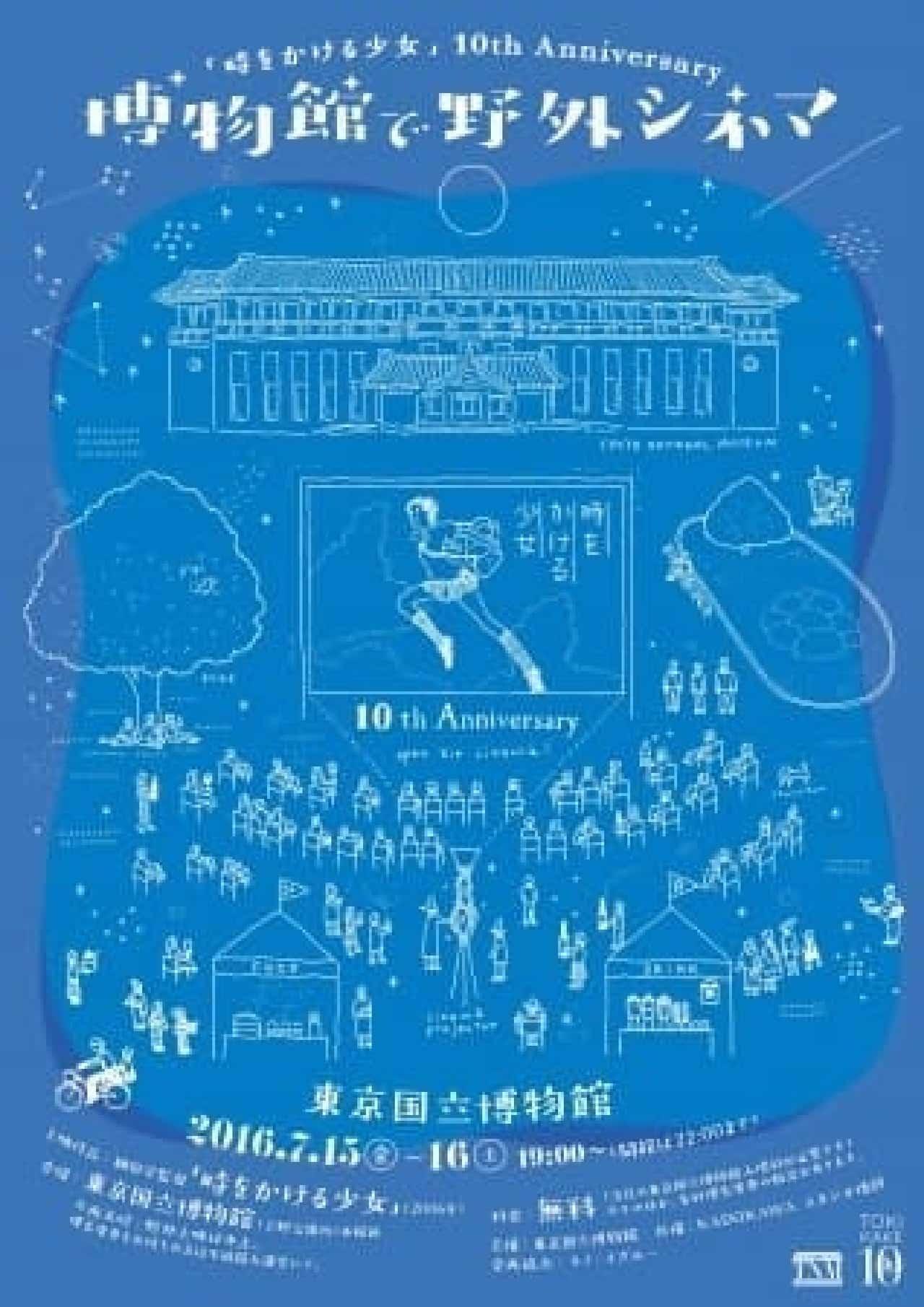 東京国立博物館「時をかける少女」の野外上映会