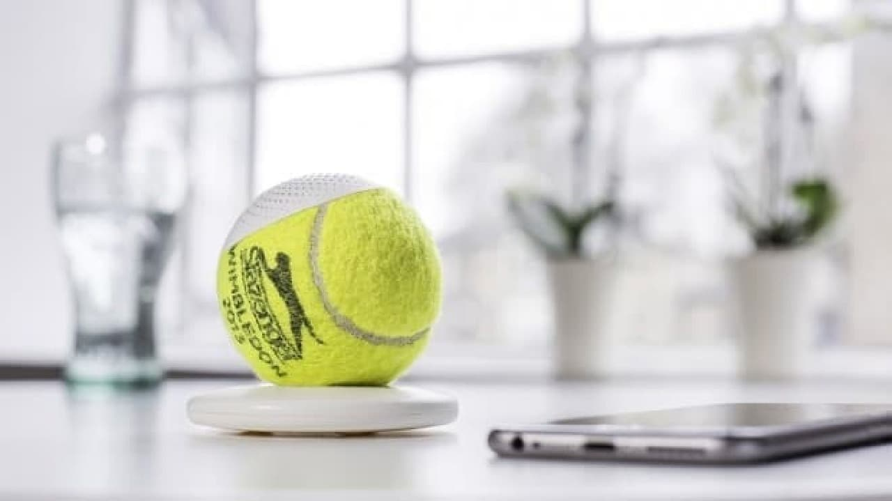 ウィンブルドン選手権で使用されたテニスボールを再利用するスピーカー「hearO」