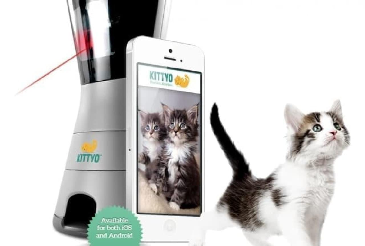 どこにいてもネコと遊べる遠隔愛猫コミュニケーター「KITTYO」