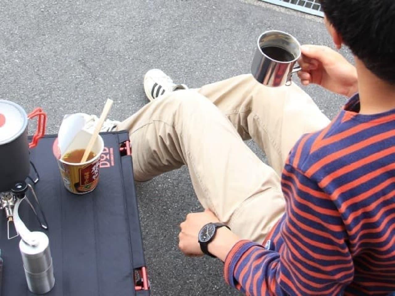 「ラーメン、コーヒー、そして俺」楽しみ方の例