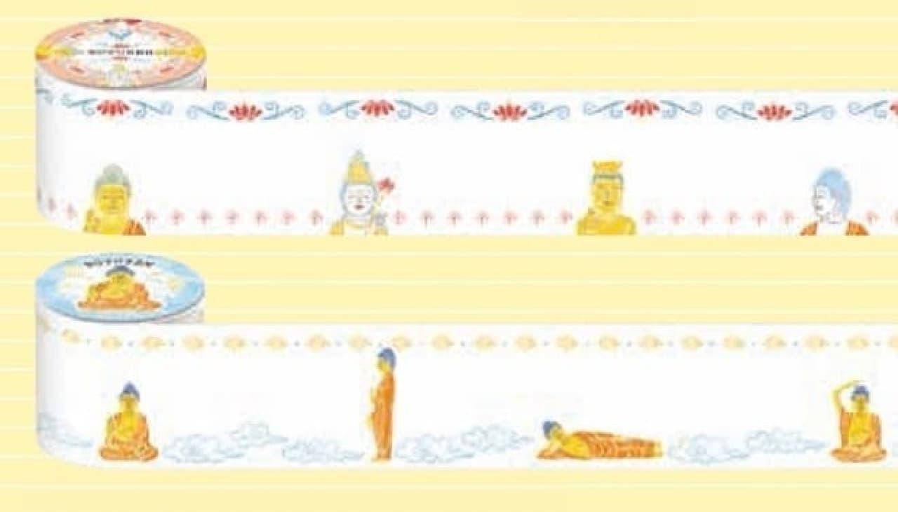 『京都文具大全』で紹介される仏像ロールふせん