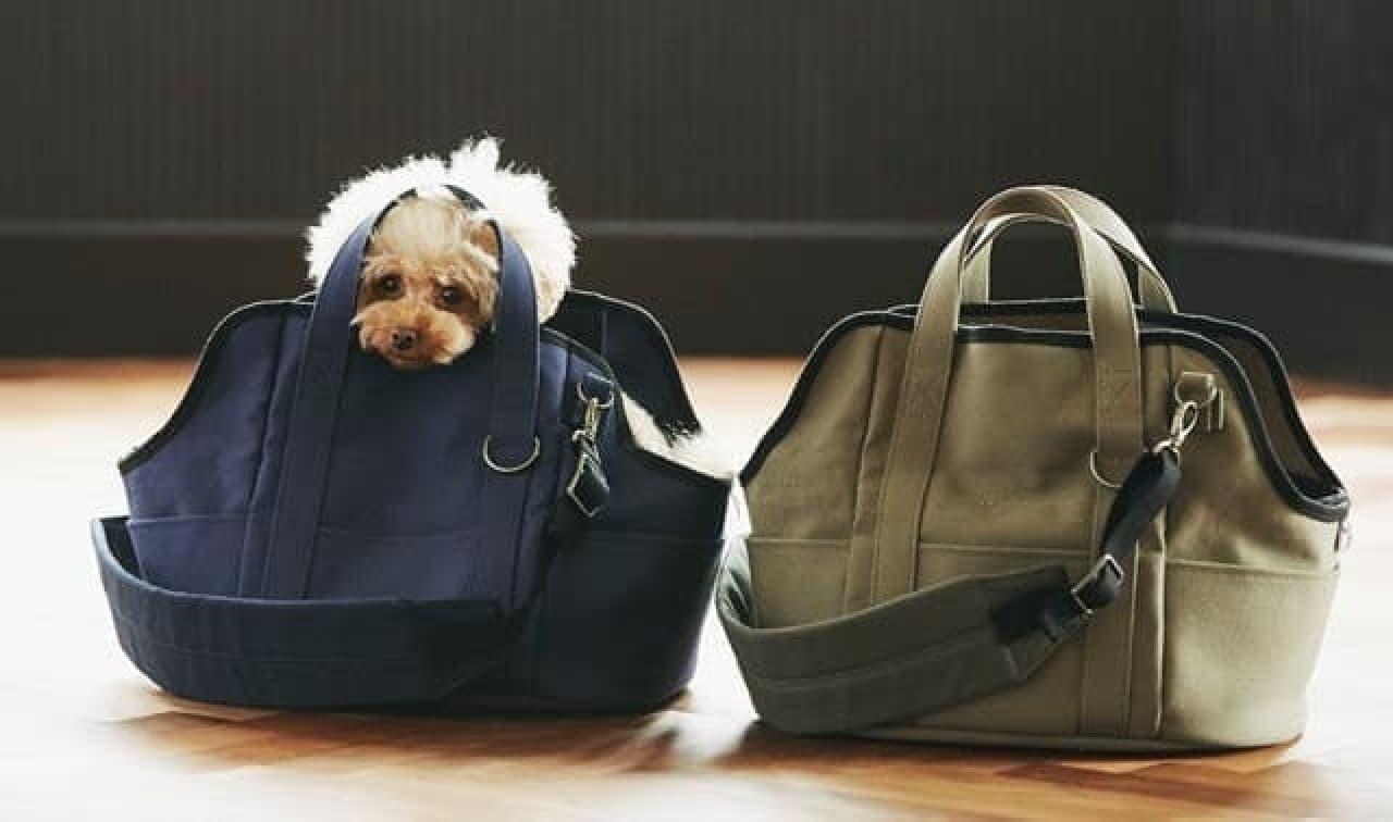 いつものペット用ベッドがトートバッグになる「ハウストートバッグ」