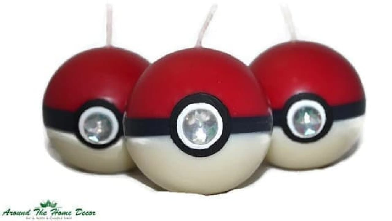ポケモンのモンスターボールを模したキャンドル「PokeBall」