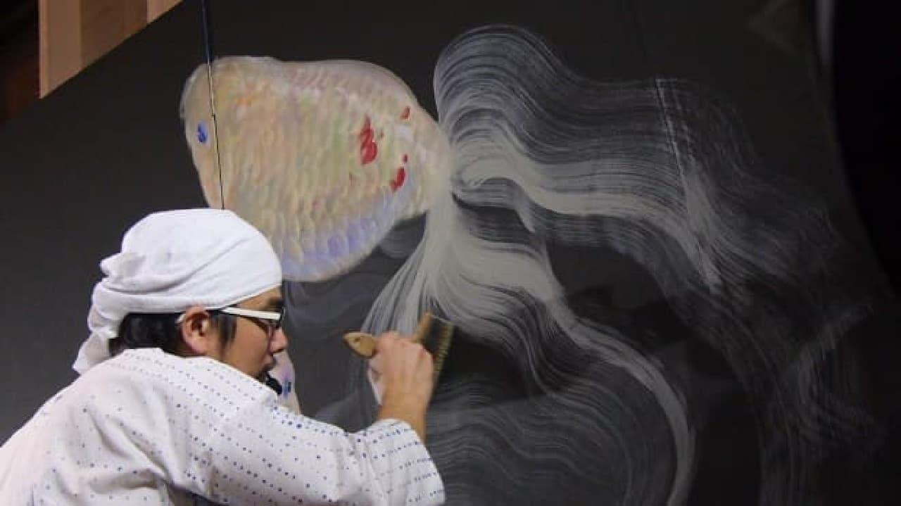 金魚絵師・深堀隆介さんの作品展「キンギョ イン ザ スカイ」