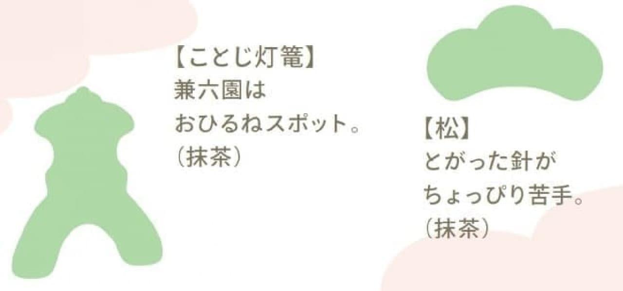「落雁ショコラ 金澤さんぽ」 兼六園の「ことじ灯篭」デザイン