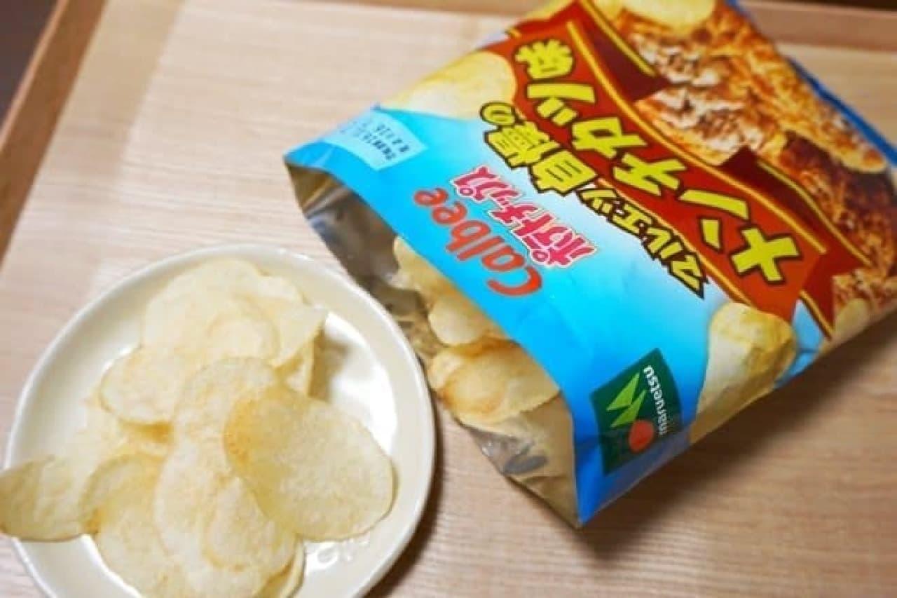 カルビーポテトチップス マルエツ自慢のメンチカツ味