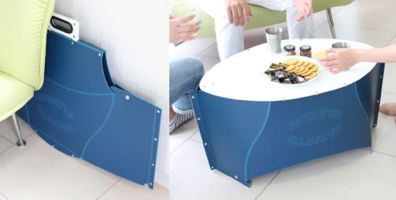 折りたたみテーブル「PATATTO TABLE(パタットテーブル)」