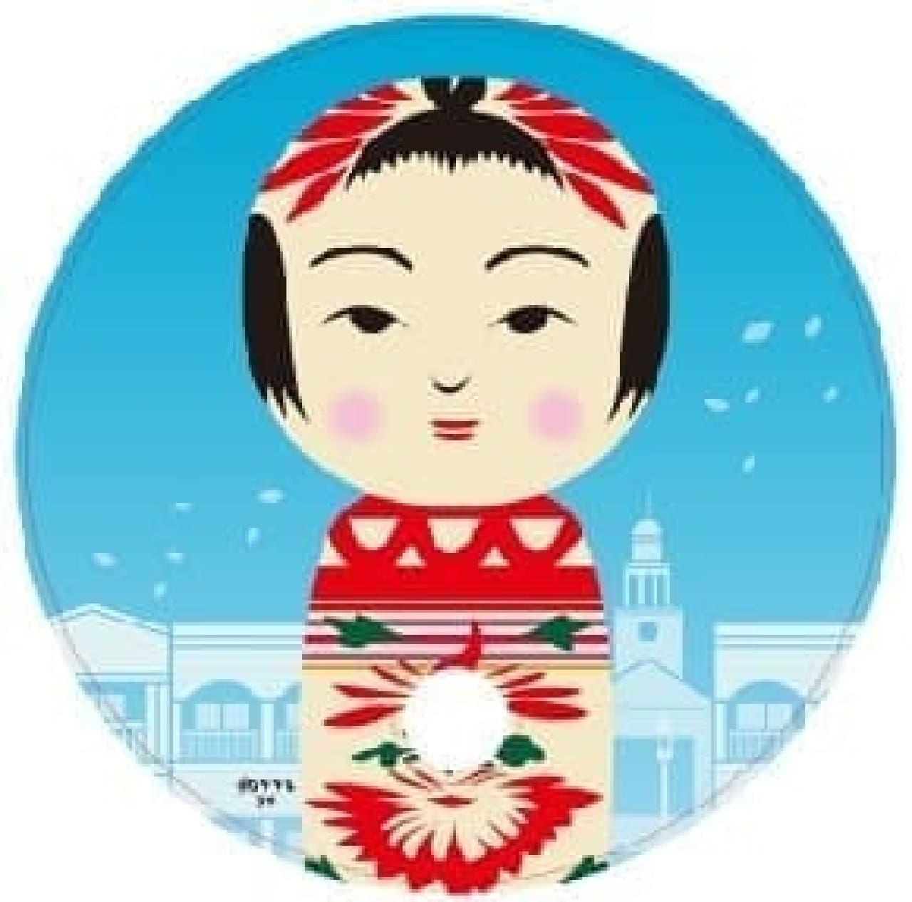 「宮城 夏のこけしフェス in 仙台泉プレミアム・アウトレット」の花子さんうちわ