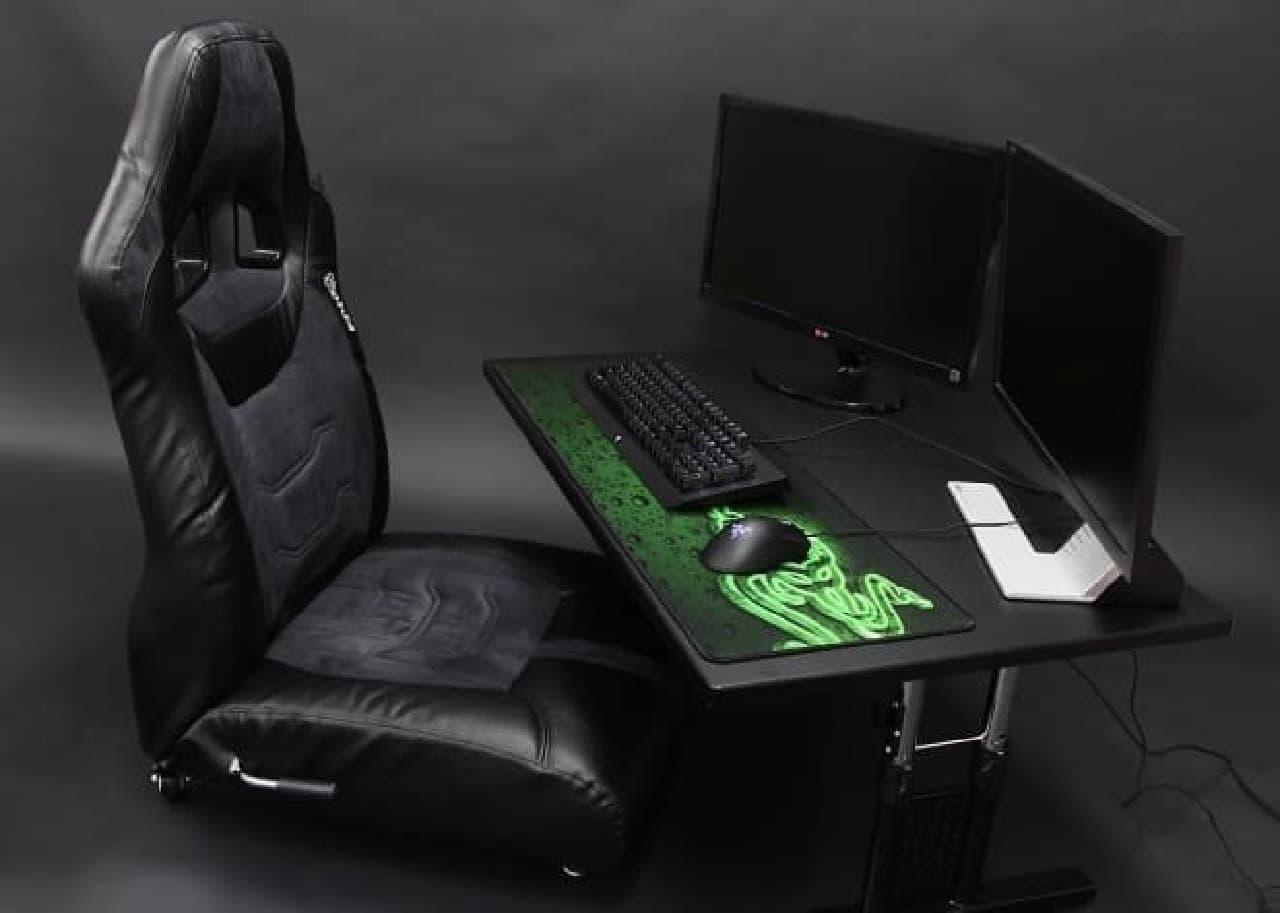ゲーミング座椅子×昇降式ローデスク
