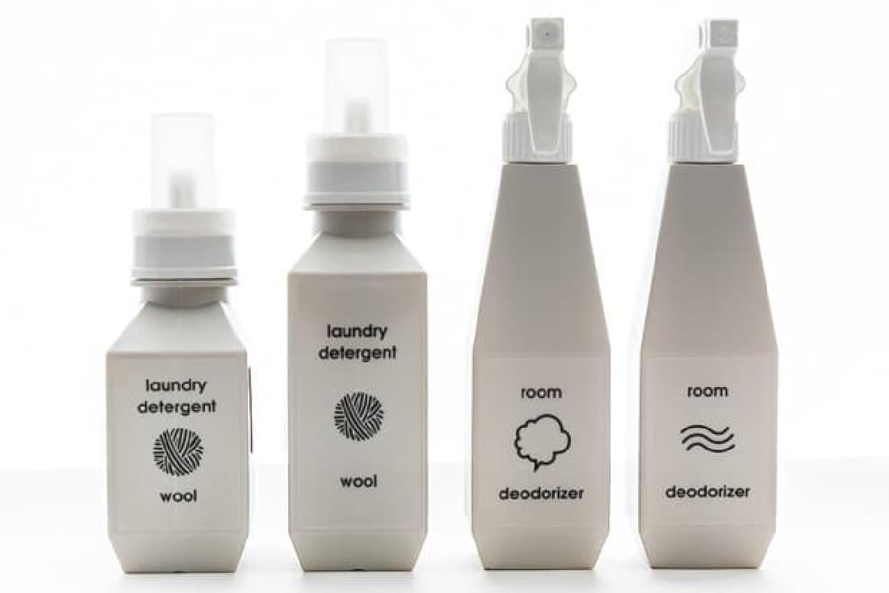 詰め替え用ボトル「b2c laundry bottle&spray」