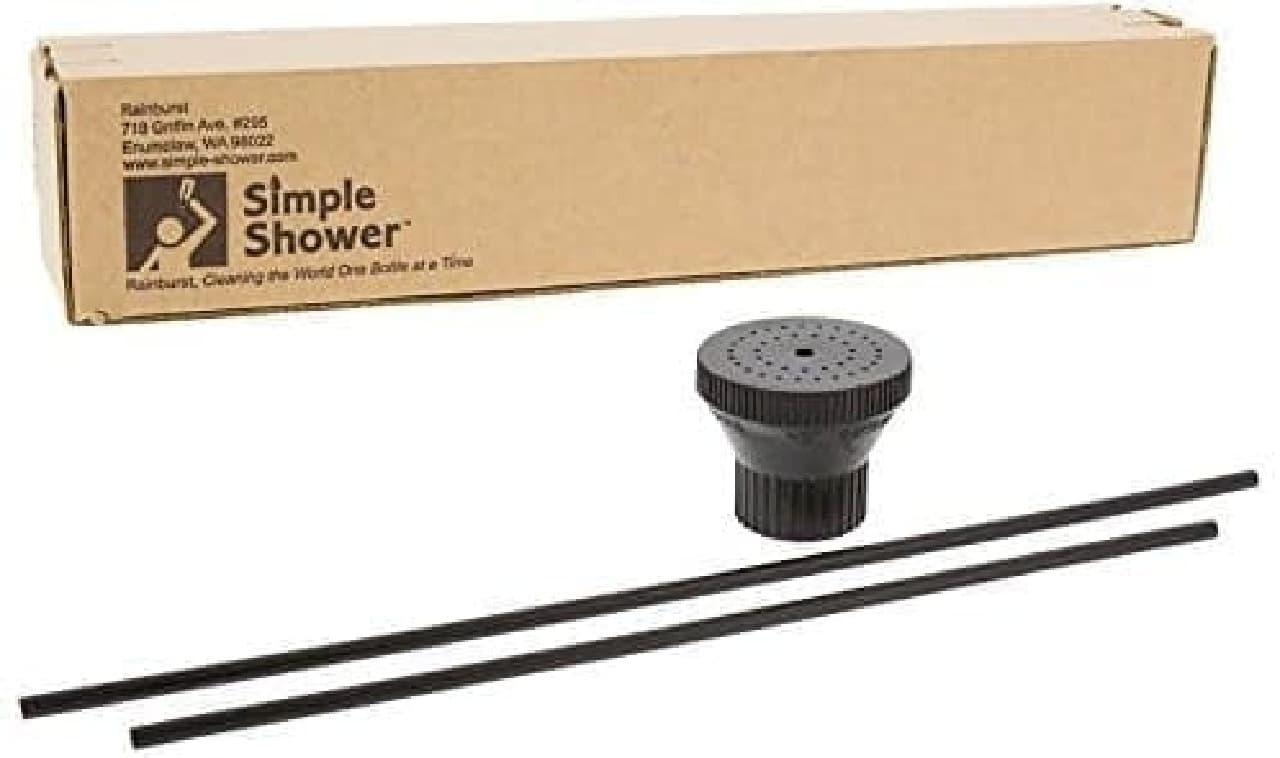 ペットボトルをシャワーにする「Portable Camping Shower」