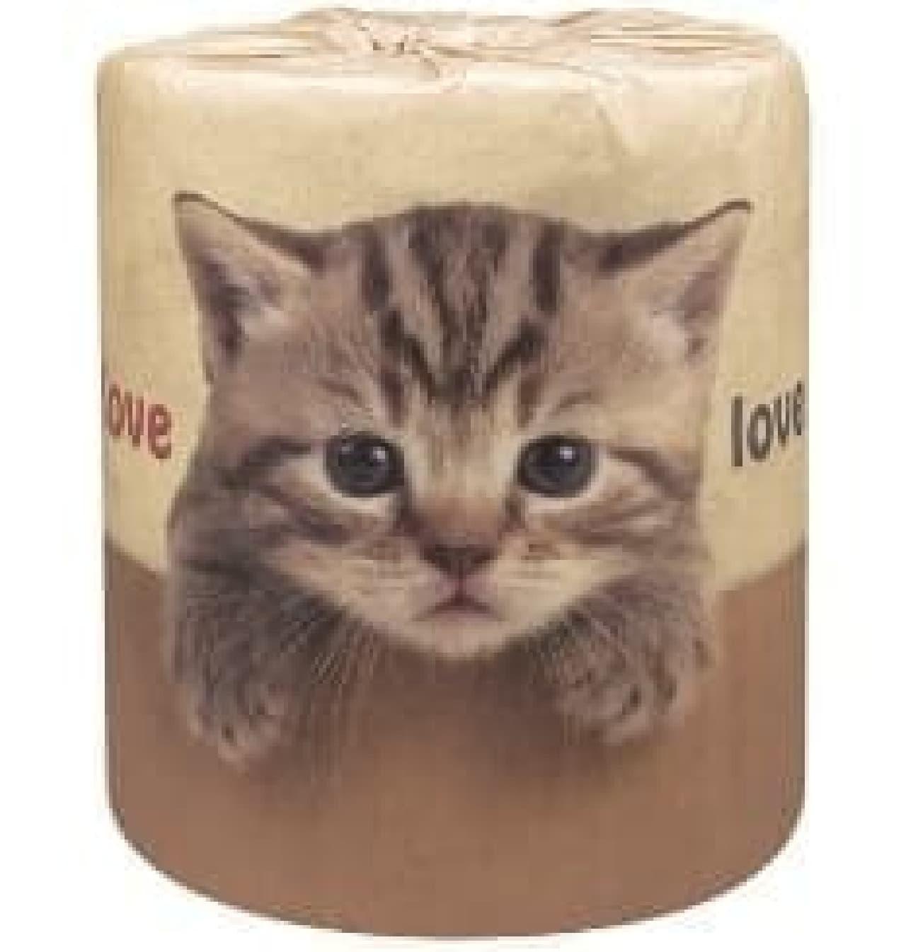 ネコ好きのためのトイレットペーパー「やっぱり猫が好き」