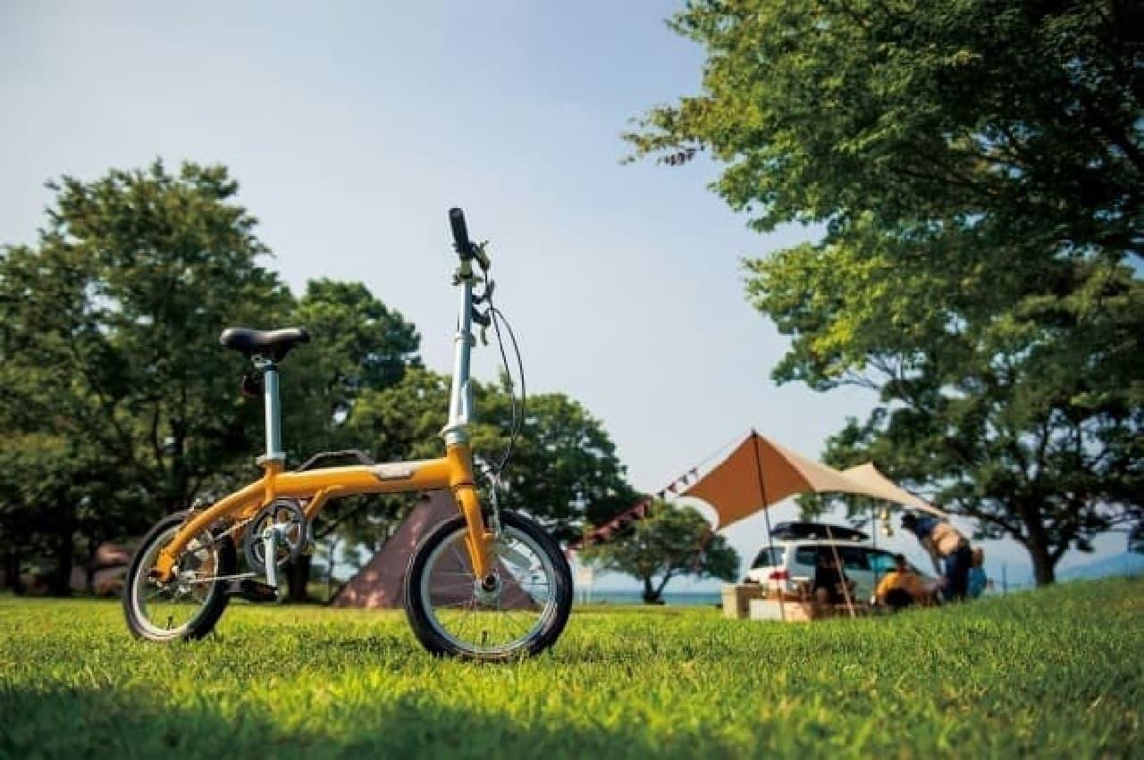 取っ手付き折り畳み自転車「OUTRUNK(アウトランク)」