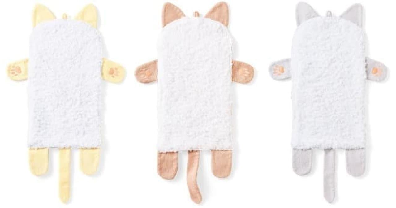 フェリシモ猫部「もふもふ胸毛に顔をうずめる 猫タオル」