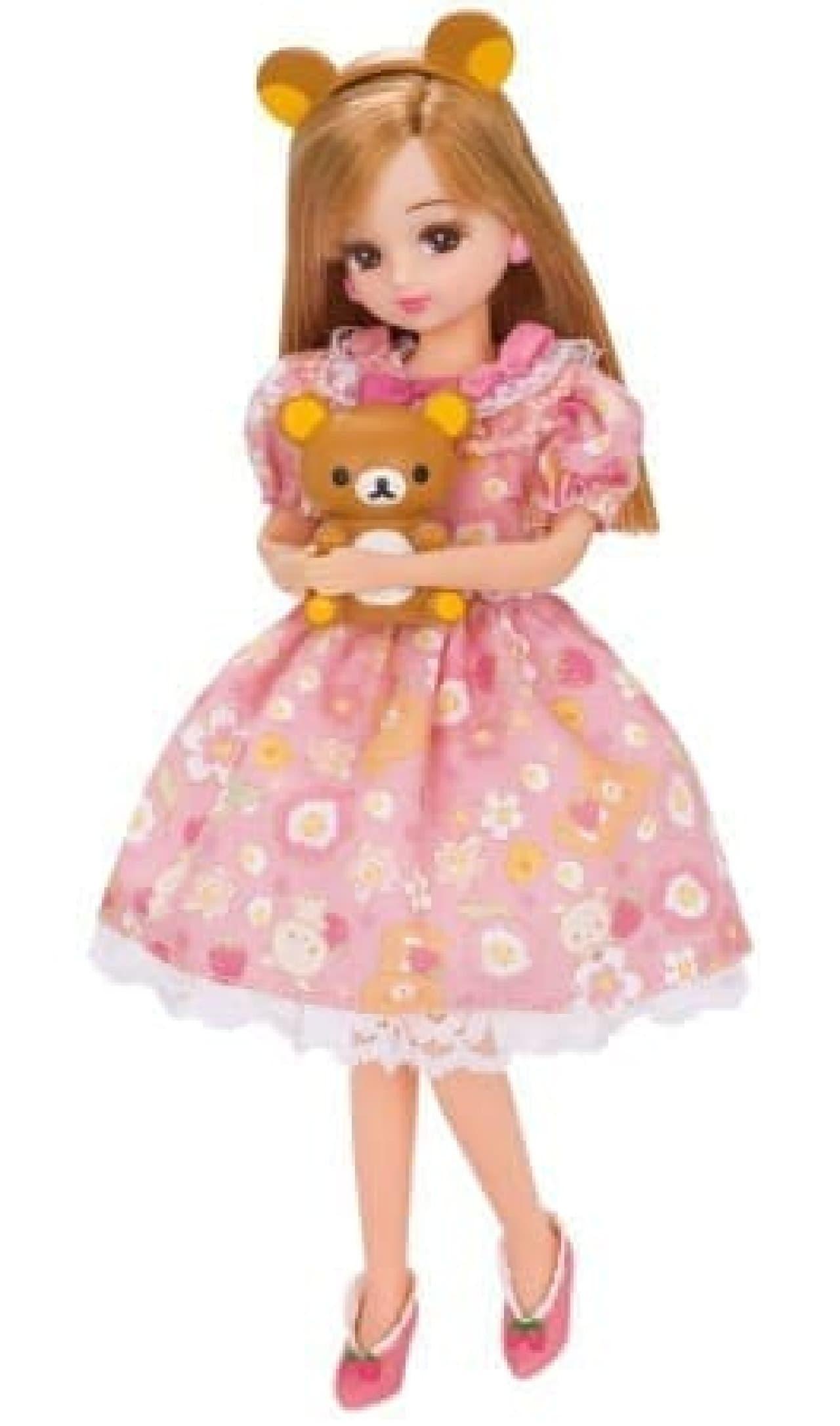 リラックマ×リカちゃんコラボ着せ替え人形
