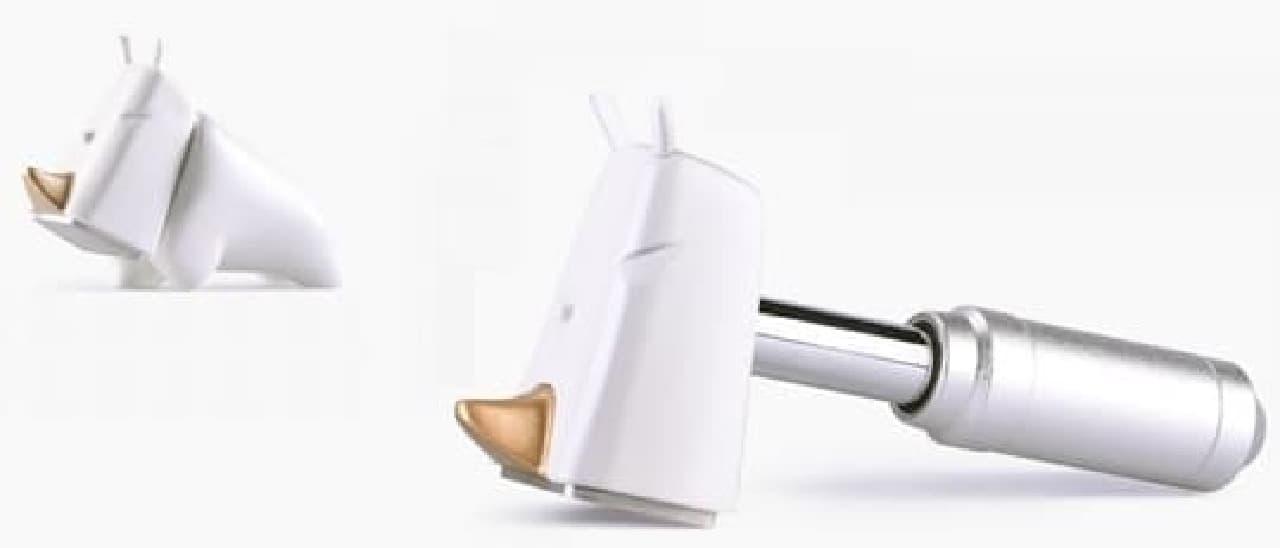 ペーパーウェイトとしても使える小型ハンマー「Rhino Hammer(サイハンマー)」