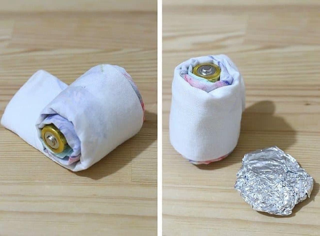 東京防災P.207「乾電池の大きさを変える」
