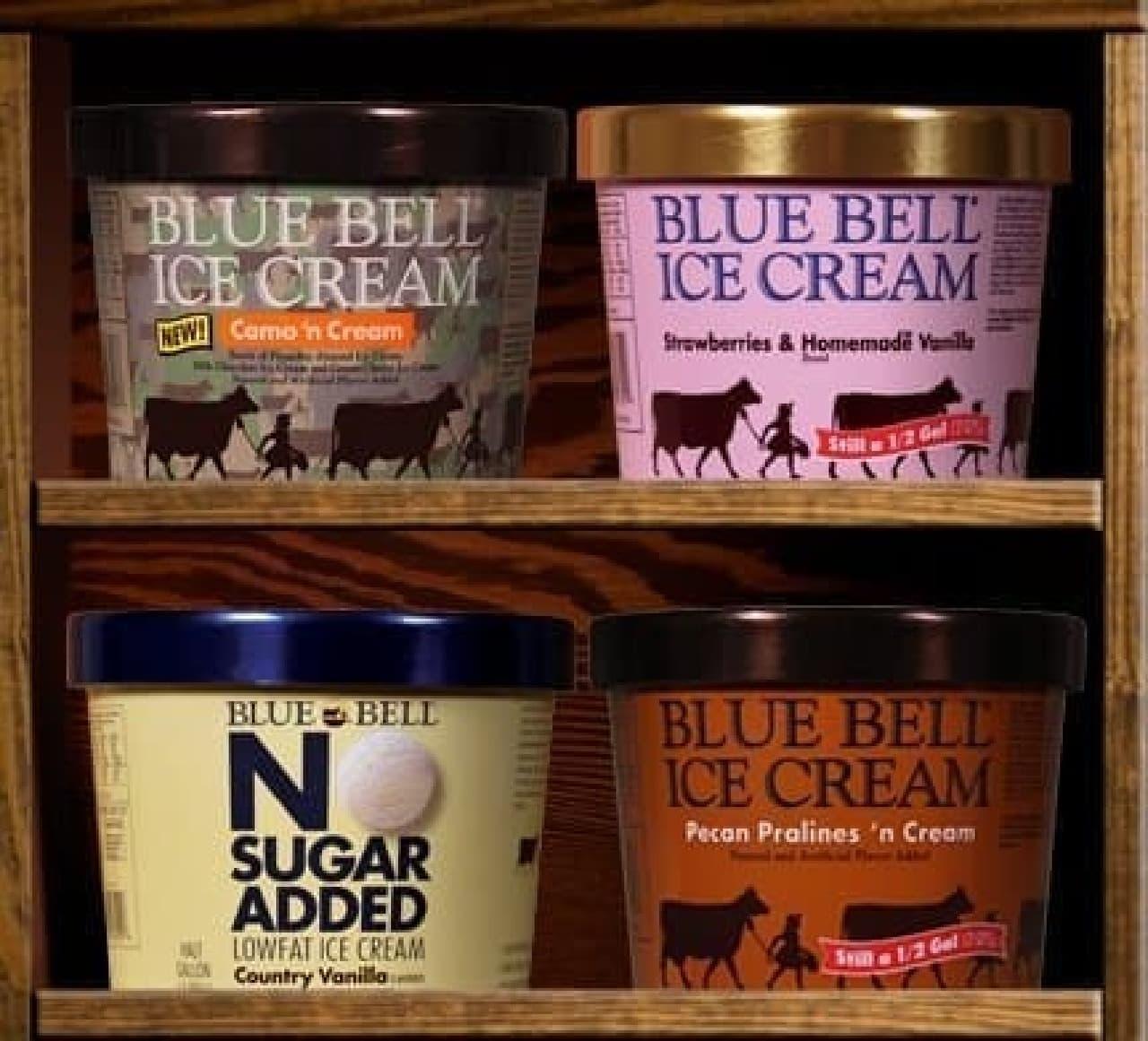 迷彩柄のアイスクリーム「Camo'n Cream」