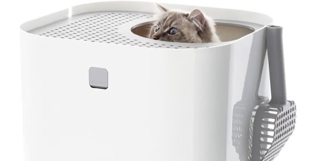 すっぽり入れる「猫のボックストイレ」