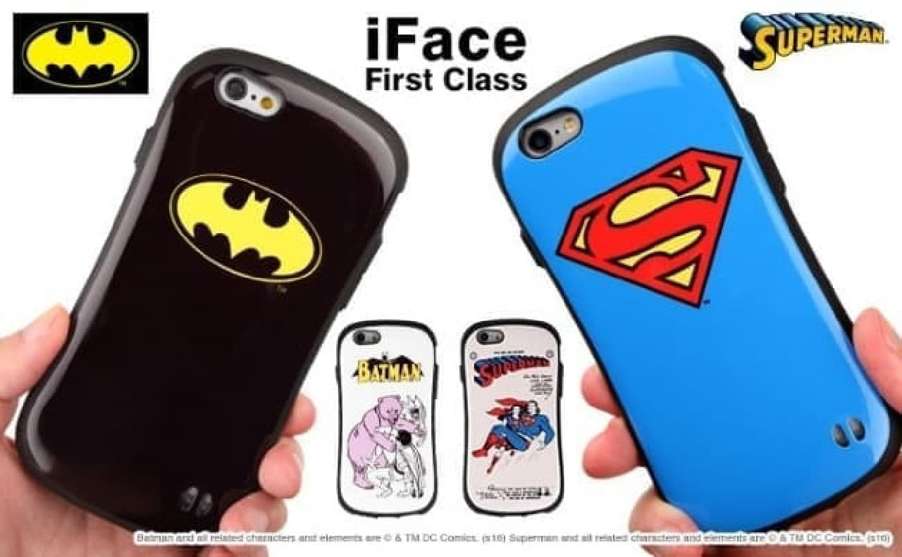 DCコミックス BATMAN/バットマン SUPERMAN/スーパーマン iFace First Classケース